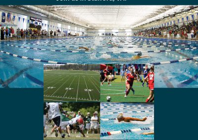 Sports events print ad