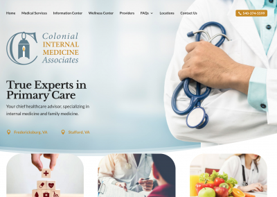 Website for medical practice